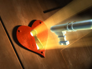 Opening a door to love with the key
