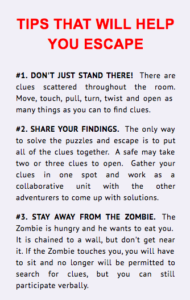 Where to play escape games - Trapped in a Room With A Zombie