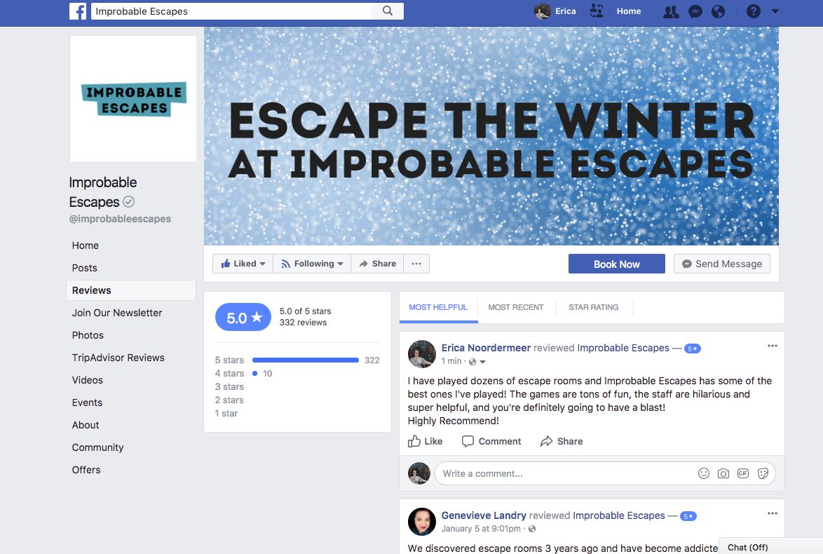 Mini Escape Games - Facebook - Completed review