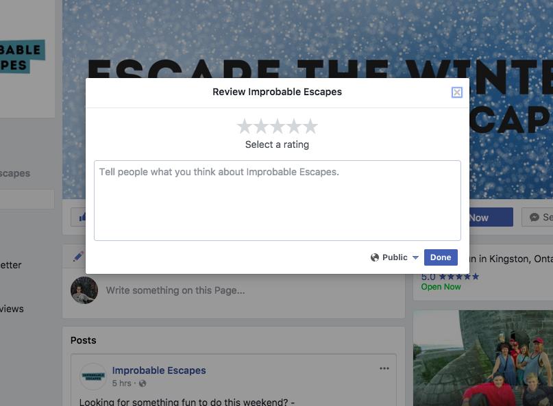 Mini Escape Games - Facebook - Leave Review