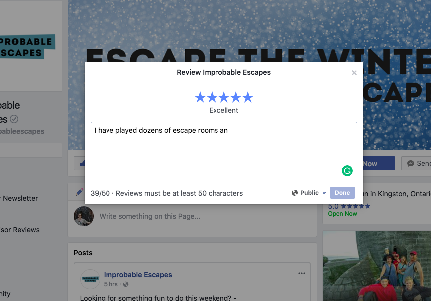 Mini Escape Games - Facebook - Write a Review
