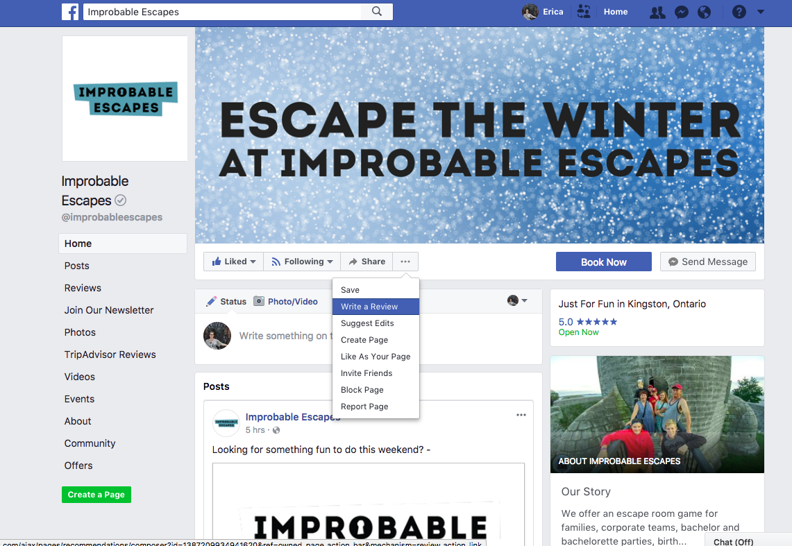Mini Escape Games - Facebook - Select Reviews