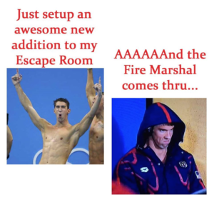 Mini Escape Games - Fire Marshal Meme