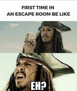 Mini Escape Games - First Timers Meme