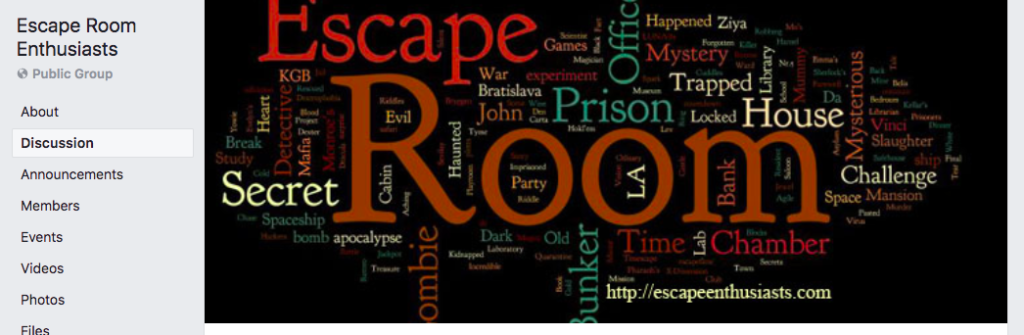 Escape Room Enthusiasts Facebook Group - Mini Escape Games
